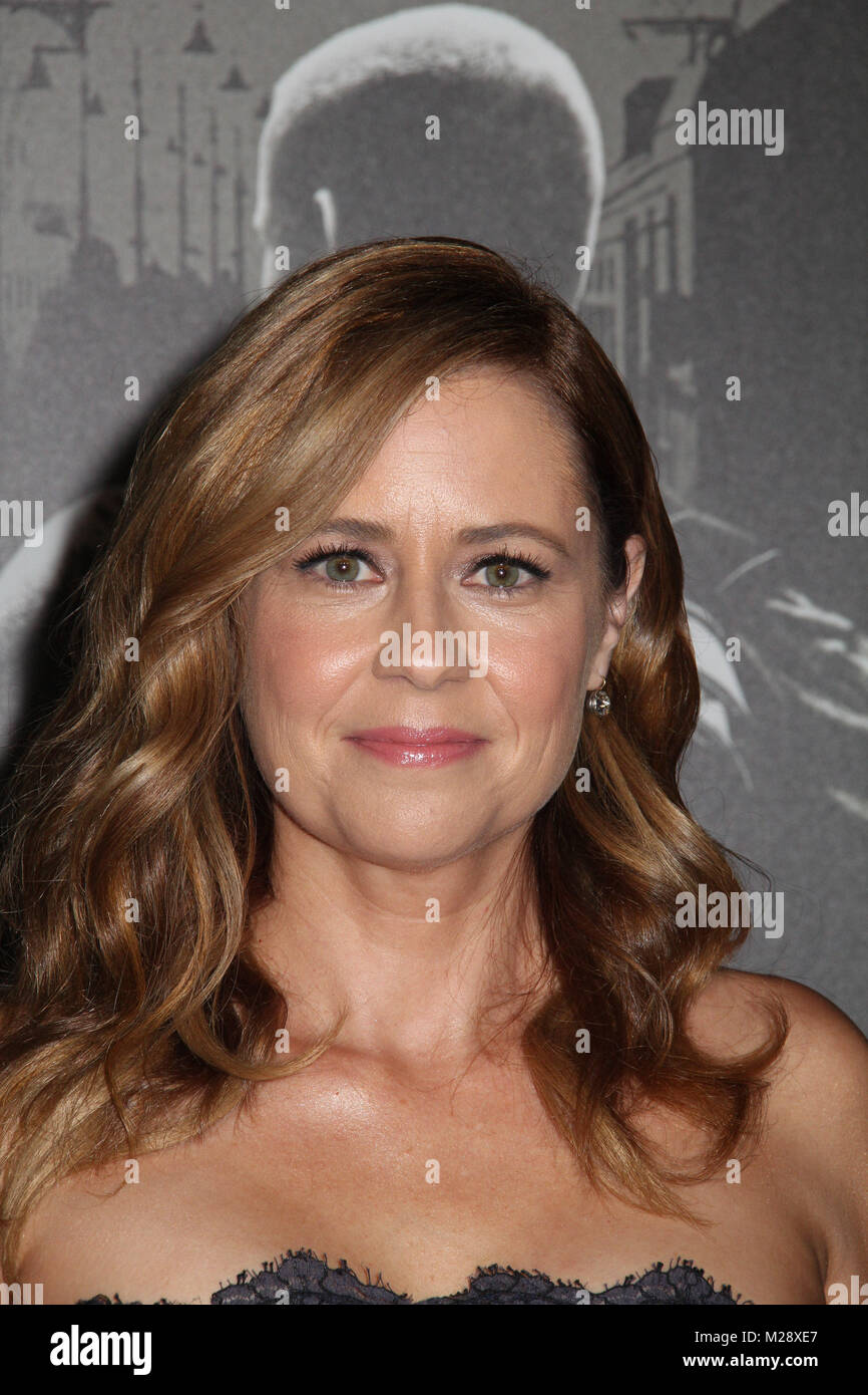 """Burbank, California, USA. 5th February, 2018. Jenna Fischer  02/05/2018 The World Premiere of """"The 15:17 to Paris"""" held at The SJR Theater at Warner Bros. Studios in Burbank, CA Photo by Izumi Hasegawa / HollywoodNewsWire.co Stock Photo"""