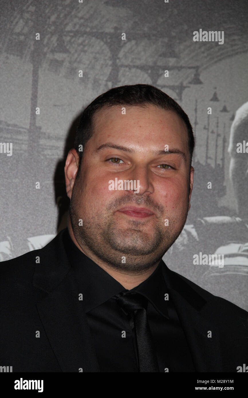 """Burbank, California, USA. 5th February, 2018. Max Adler  02/05/2018 The World Premiere of """"The 15:17 to Paris"""" held at The SJR Theater at Warner Bros. Studios in Burbank, CA   Photo: Cronos/Hollywood News Credit: Cronos/Alamy Live News Stock Photo"""