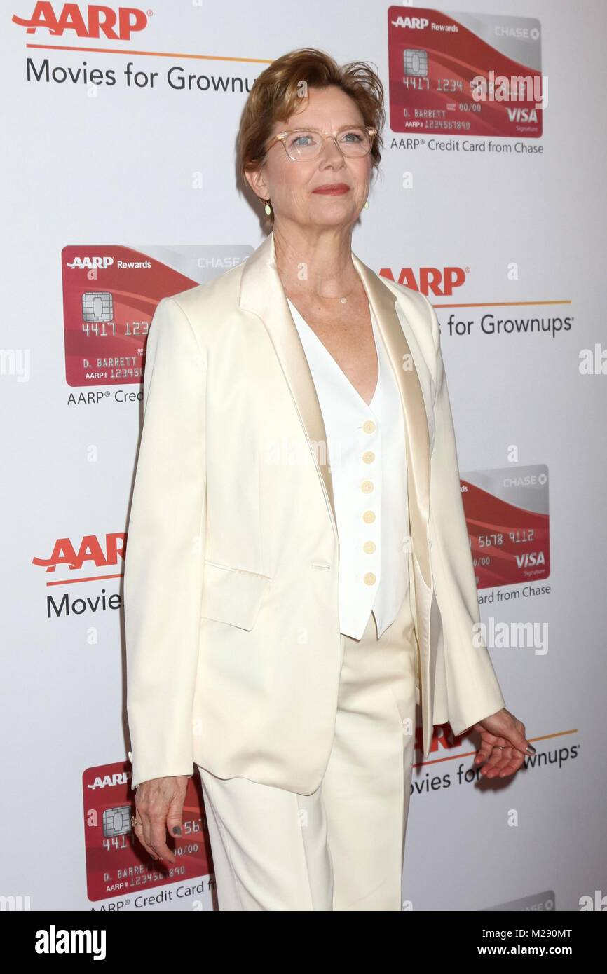 Annette Bening at arrivals for AARP The Magazine's 17th Annual Movies For Grownups Awards, Beverly Wilshire Hotel, - Stock Image