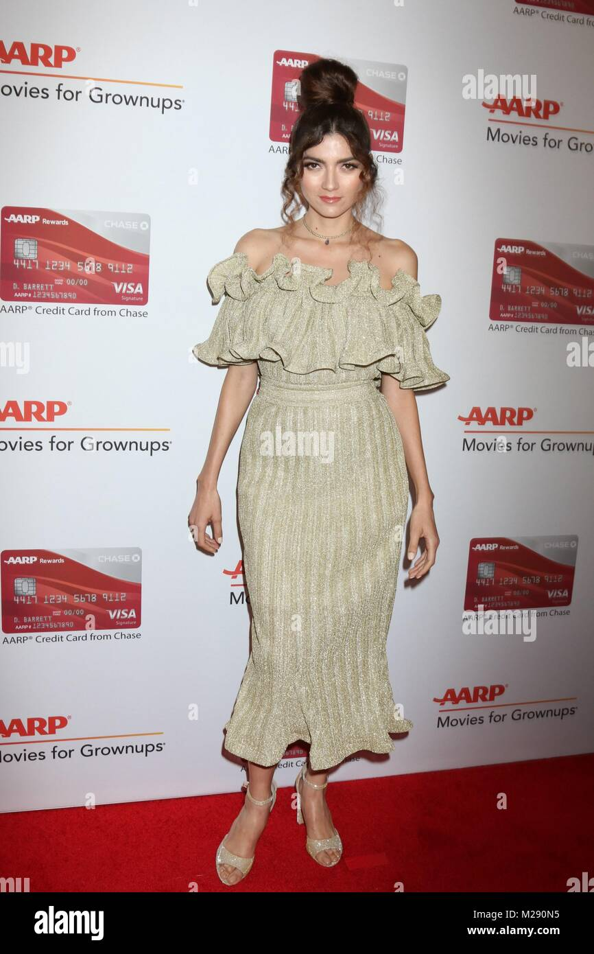 Blanca Blanco at arrivals for AARP The Magazine's 17th Annual Movies For Grownups Awards, Beverly Wilshire Hotel, - Stock Image