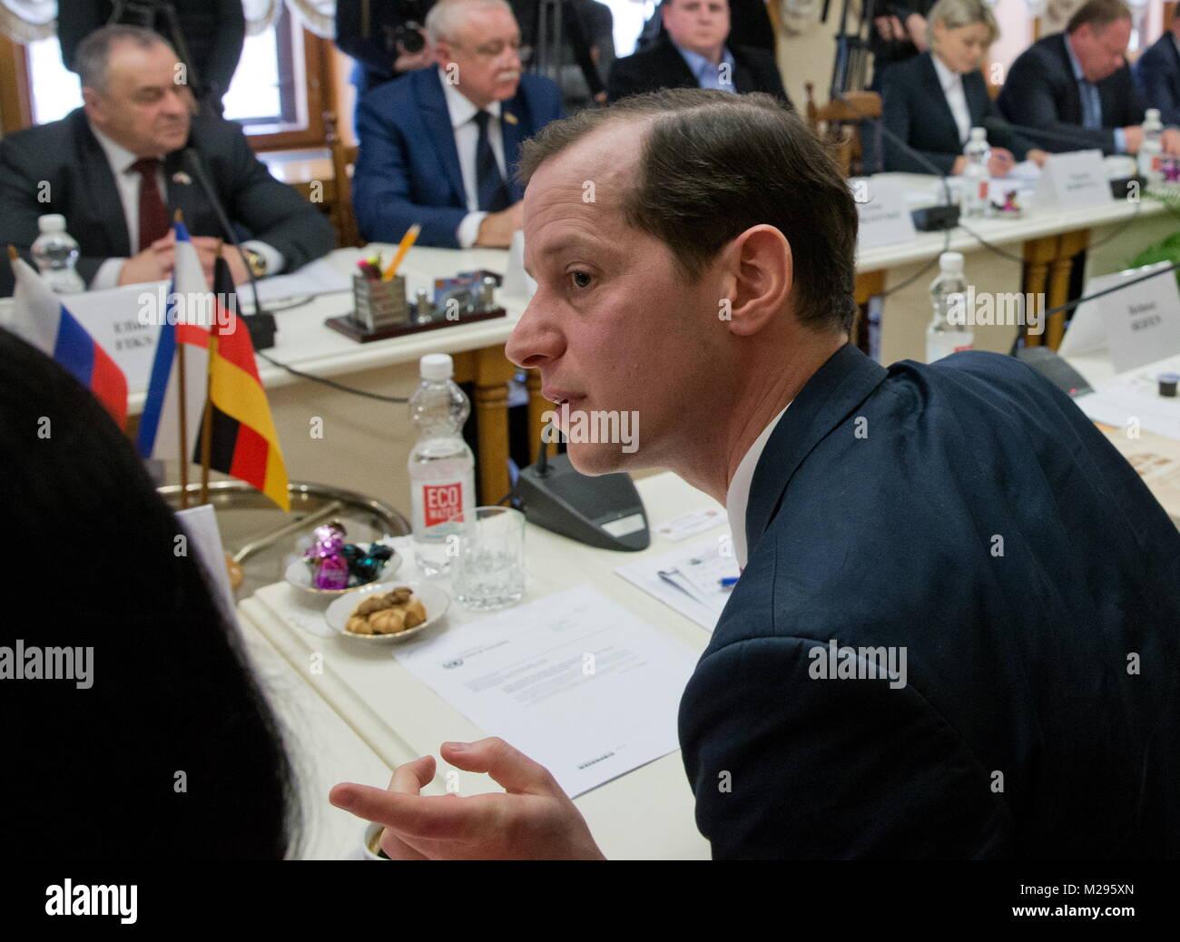 Simferopol, Russia. 06th Feb, 2018. SIMFEROPOL, RUSSIA - FEBRUARY 6, 2018: Roger Beckamp, member of North Rhine - Stock Image