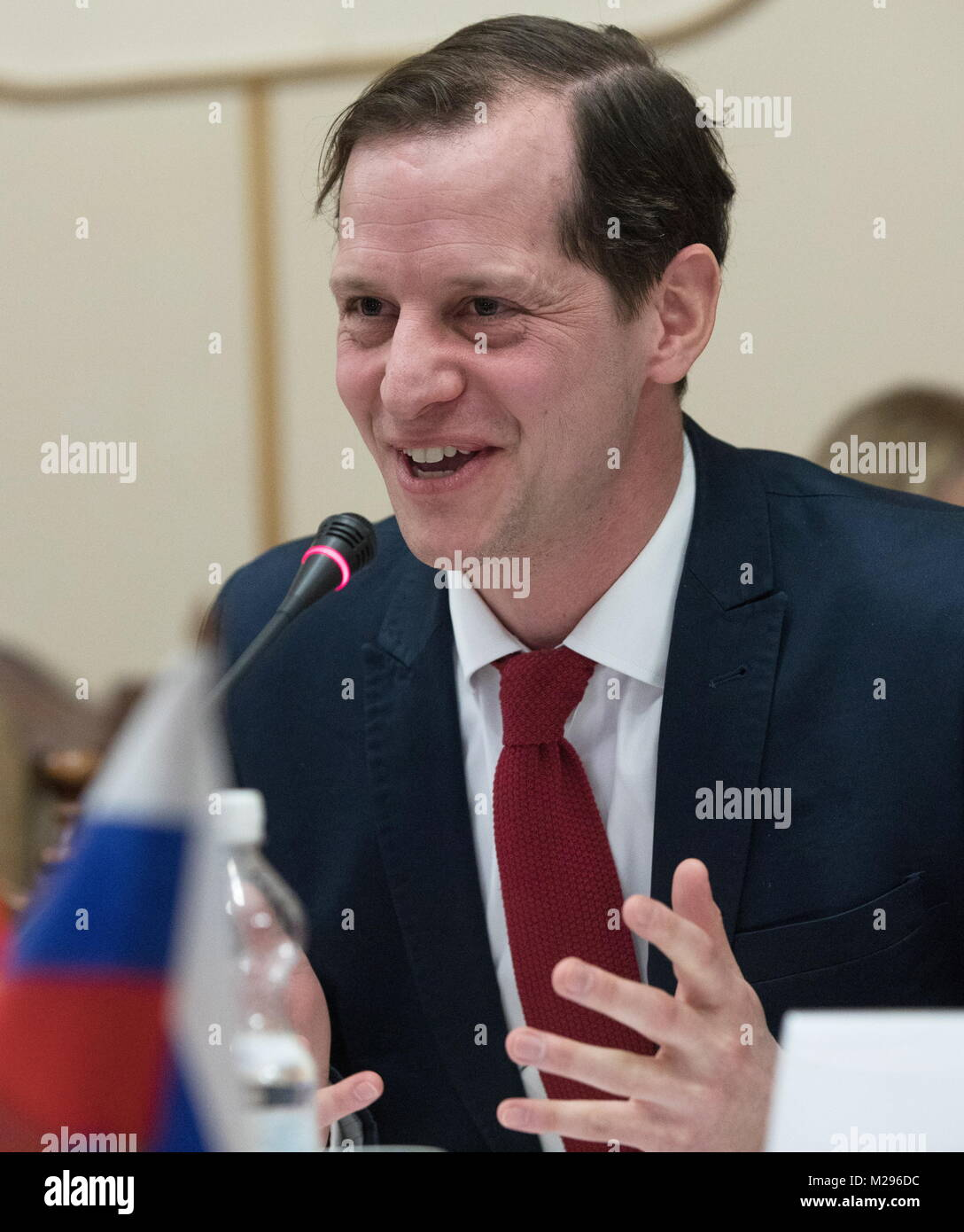 SIMFEROPOL, RUSSIA - FEBRUARY 6, 2018: Roger Beckamp, member of North Rhine-Westphalia's regional parliament - Stock Image