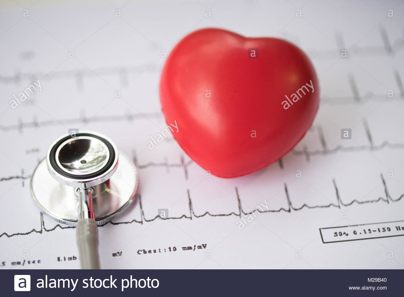 heart disease,Stethoscope and heart,diagnose heart disease,Stethoscope and heart,diagnose - Stock Image