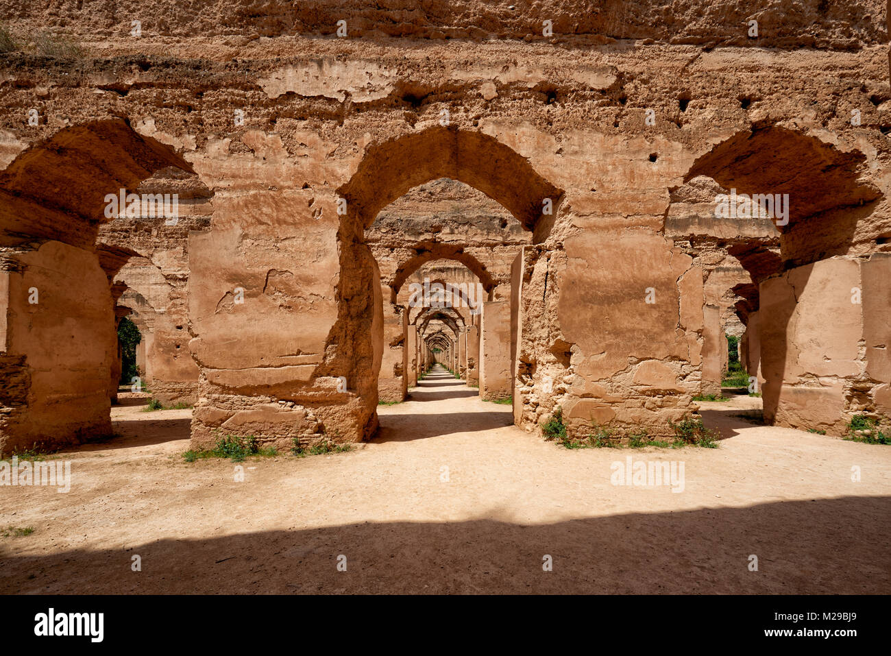 Heri es-Souani, Imperial Royal Stables, Meknes, Morocco, Africa - Stock Image