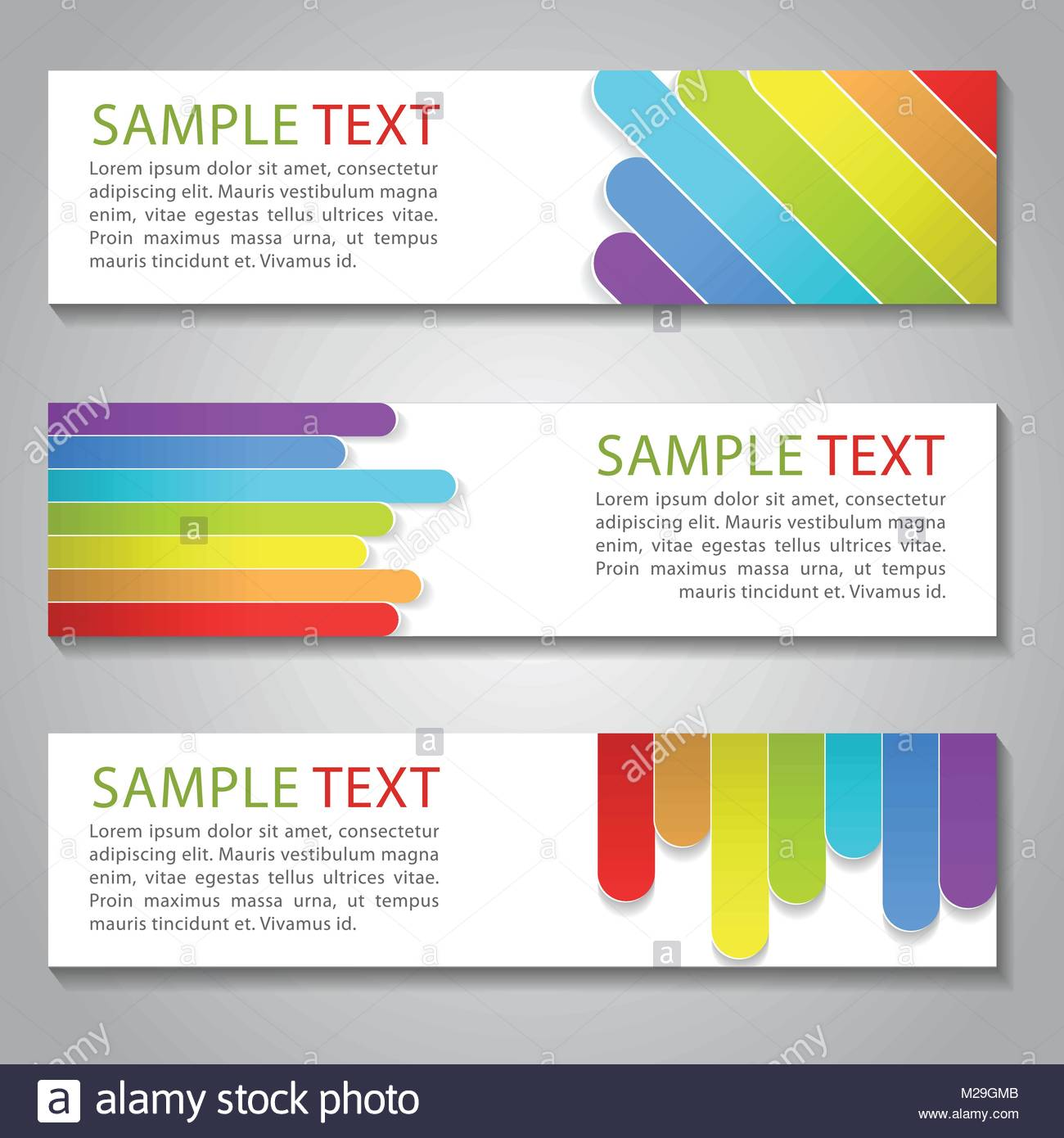 Rainbow color bannerfor design website and adapt to background and rainbow color bannerfor design website and adapt to background and business cardvector illustration reheart Images