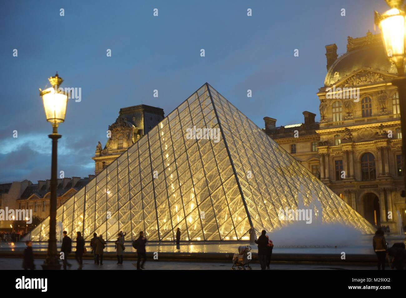 Louvre Paris, France capitol city. - Stock Image