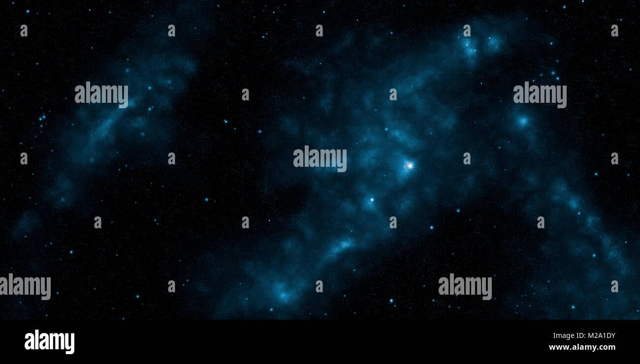 Cosmos, nebulas and stars. Sci-Fi background - Stock Image