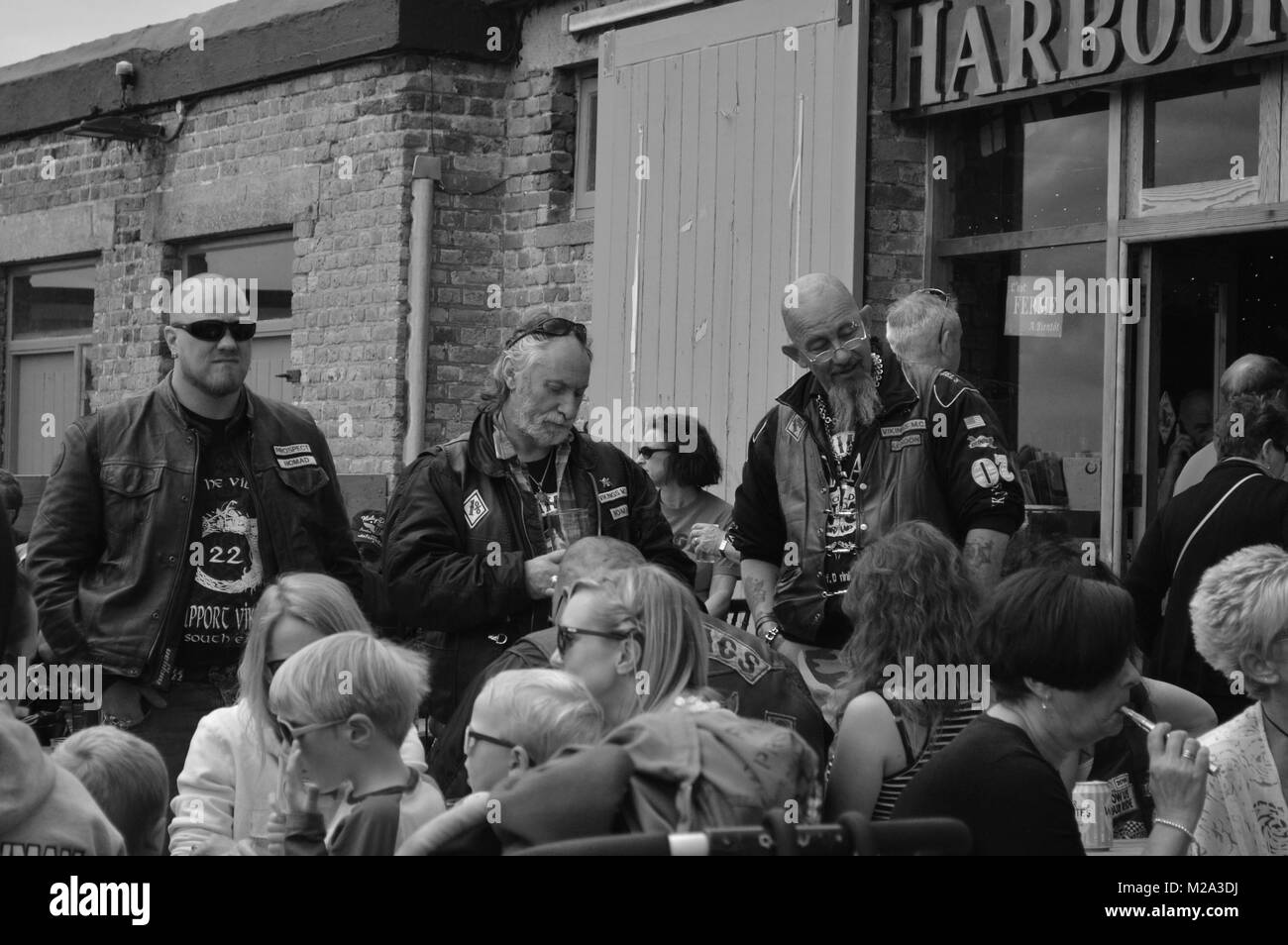 Bikers at Margate Stock Photo
