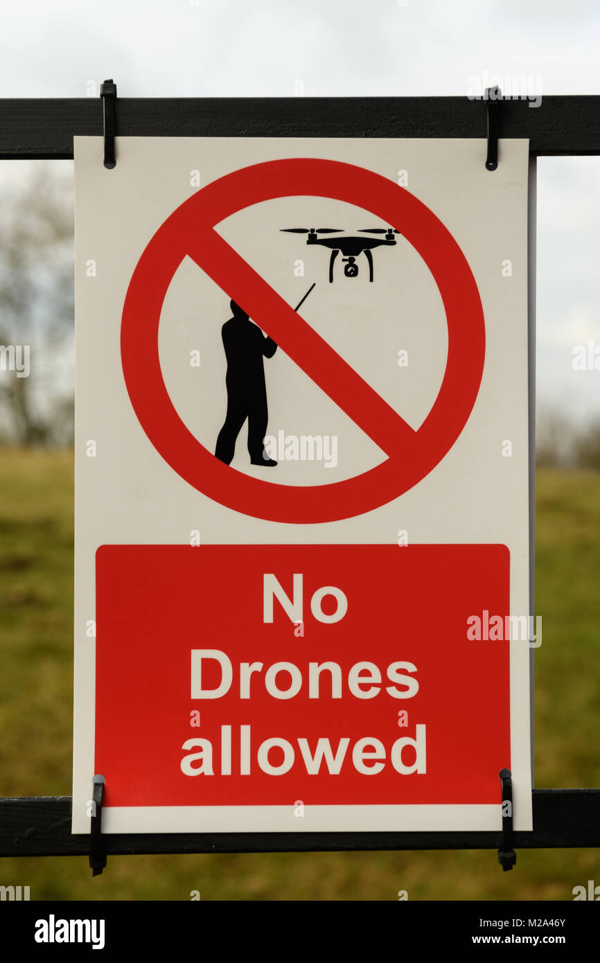 No Drone flying sign - Stock Image