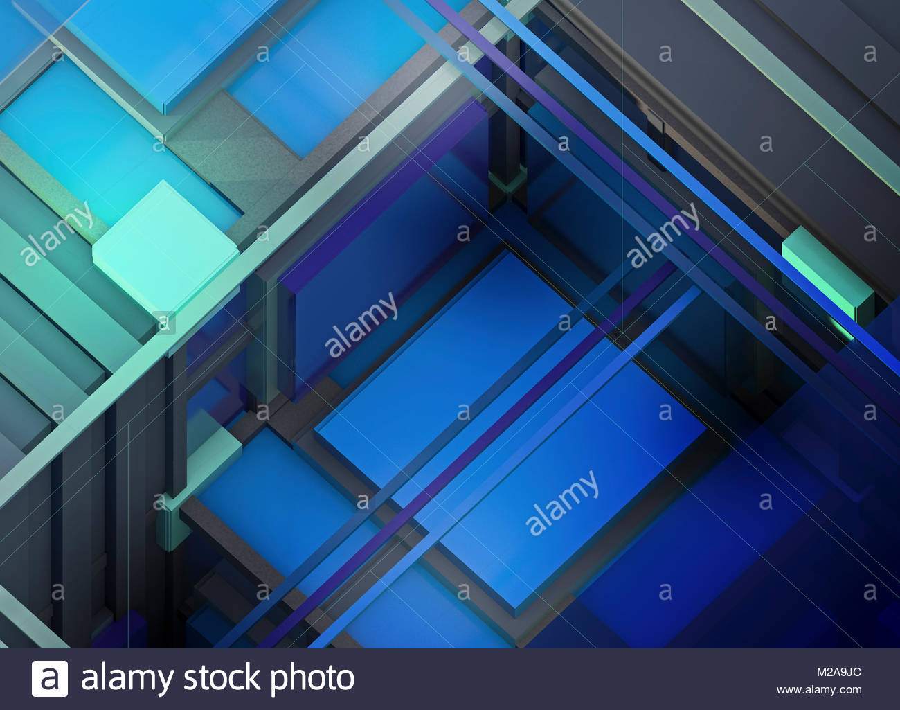 Abstract three dimensional geometric structure - Stock Image