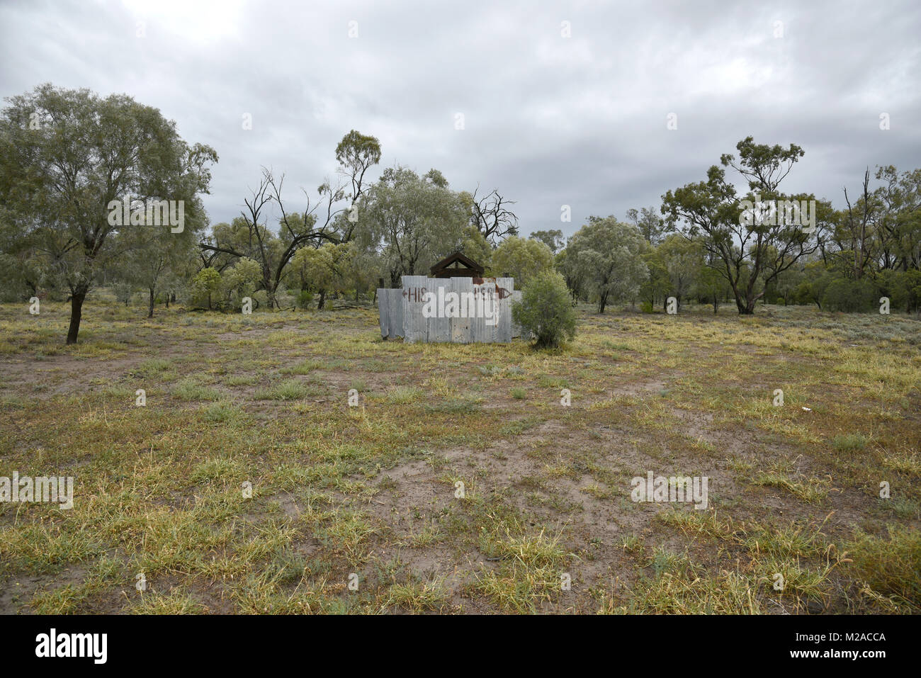 humerous outback toilet in queensland australia - Stock Image