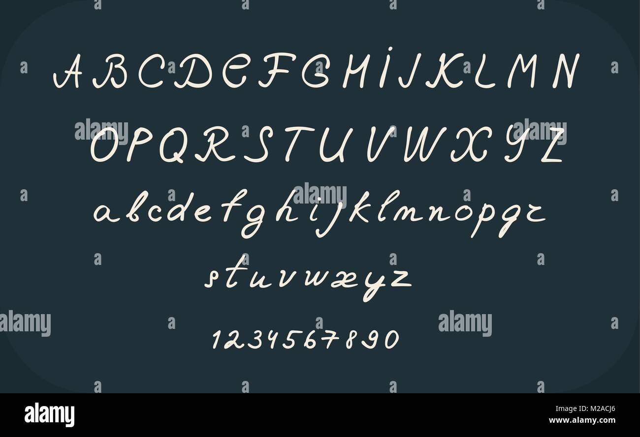 Hand Lettering Alphabet Design Handwritten Brush Calligraphy