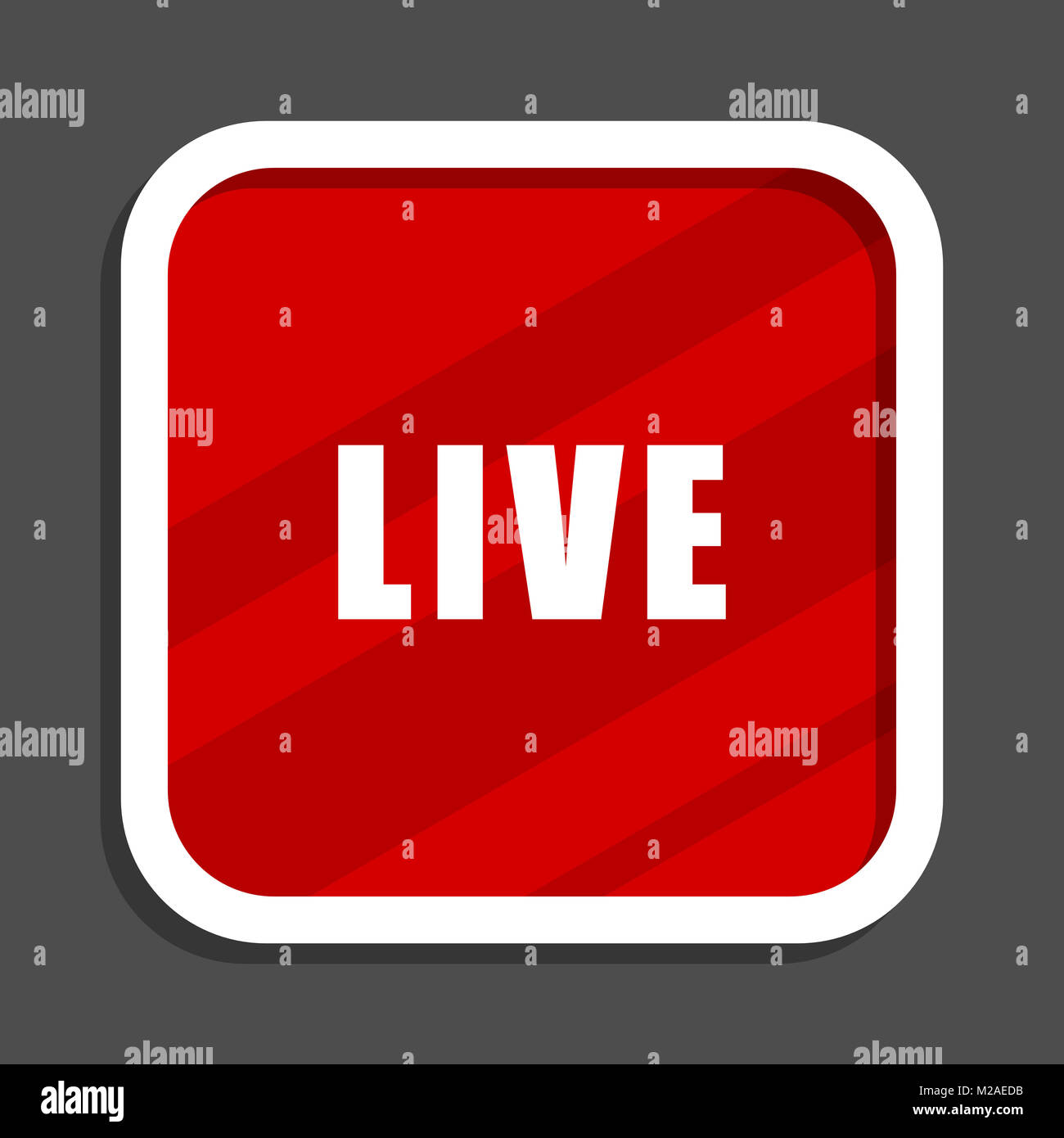 Live icon. Flat design square internet banner. - Stock Image