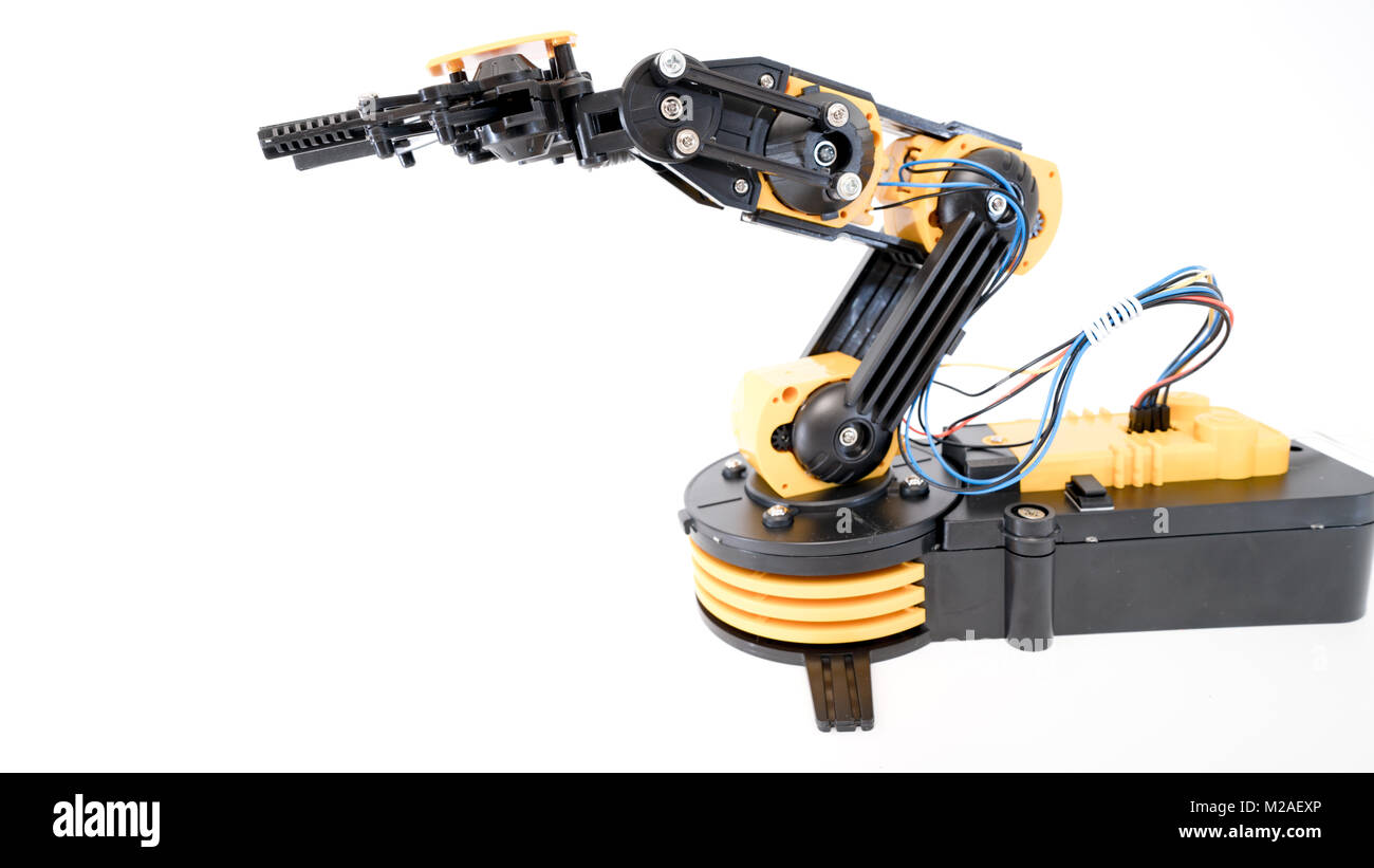 Plastic robot arm model Stock Photo