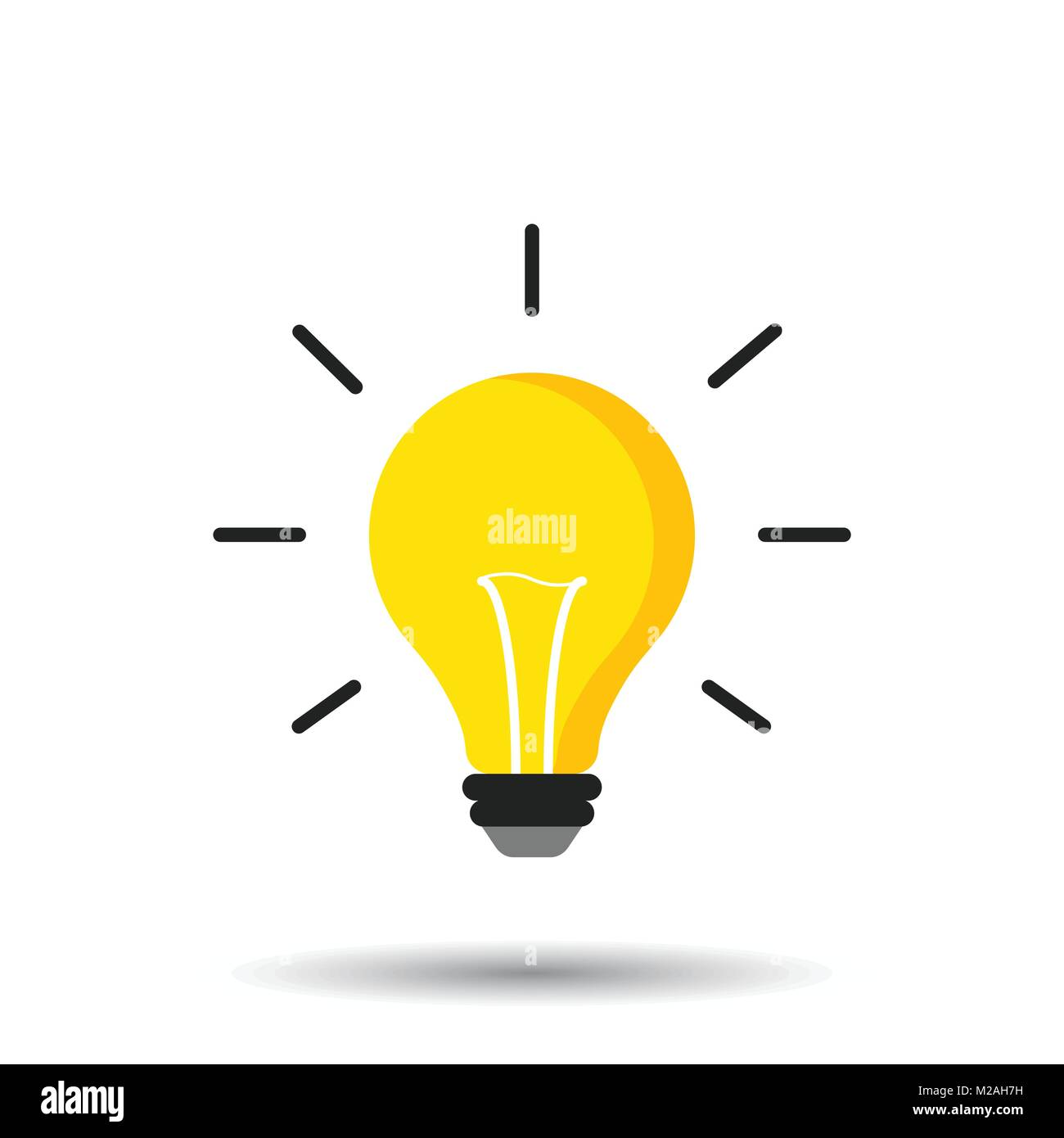 Halogen lightbulb icon. Light bulb sign. Electricity and idea symbol ...