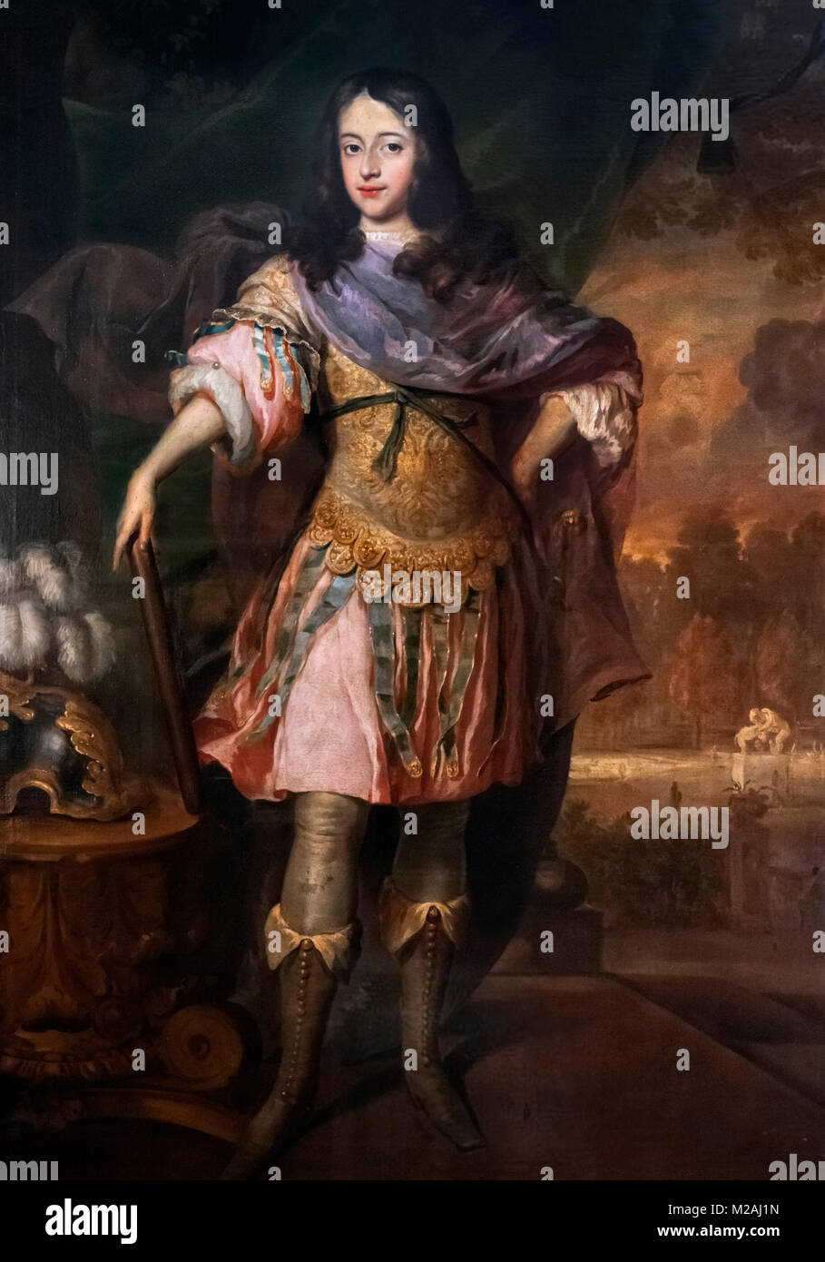 William III (1650-1702). Portrait of King William III of England as Prince of Orange at the age of seventeen by - Stock Image