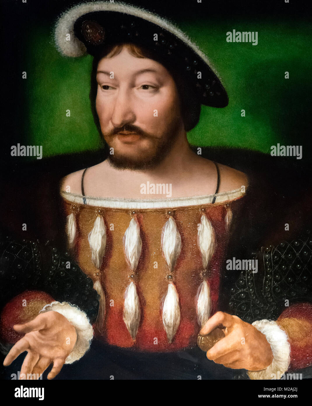 King Francis I of France (1494-1547), after an originial portrait by Joos van Cleeve, c.1530 Stock Photo