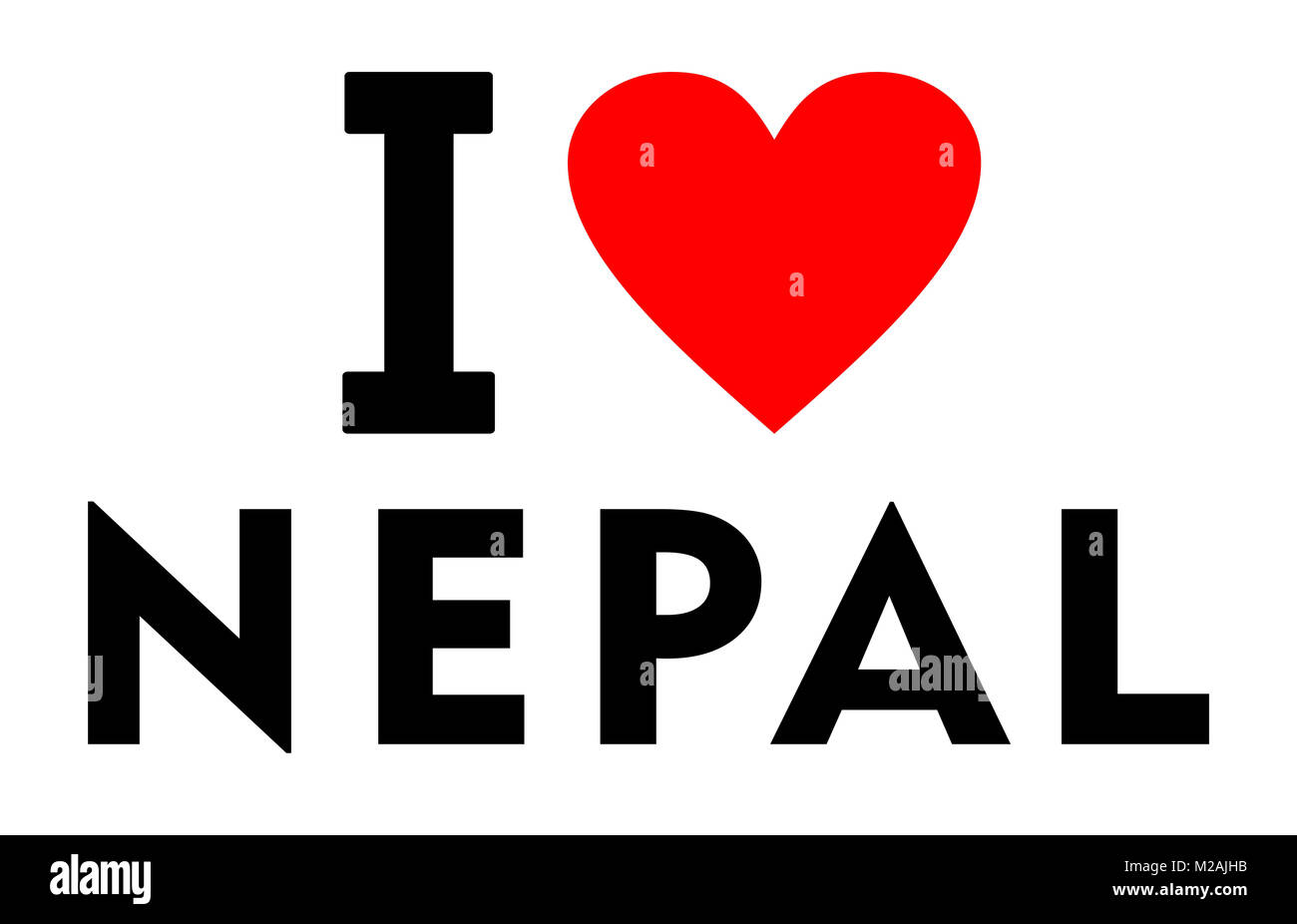 I Love Nepal High Resolution Stock Photography And Images Alamy