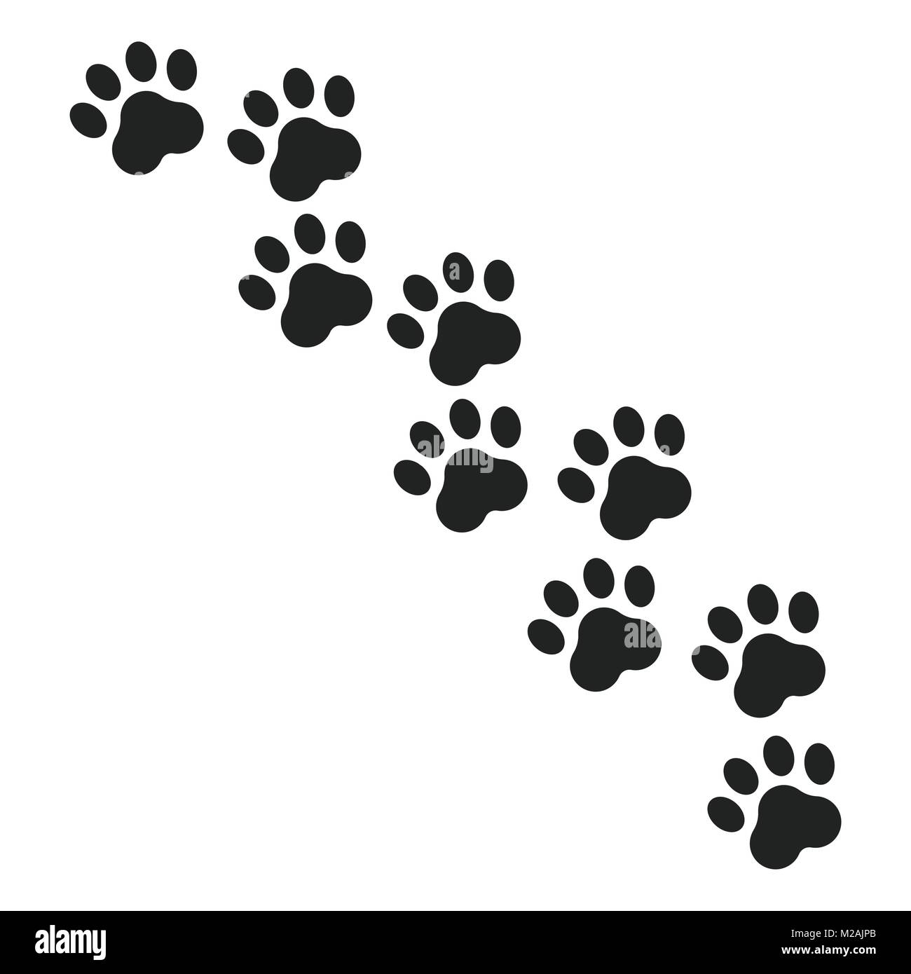paw print vector icon dog or cat pawprint illustration animal stock vector art   illustration dog paw print vector art dog paw print vector free