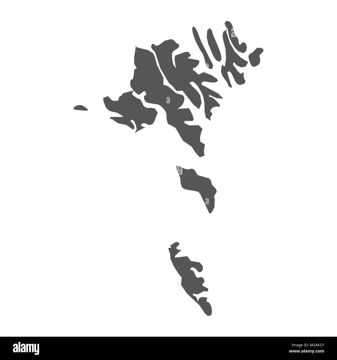 Faroe Islands vector map  Black icon on white background