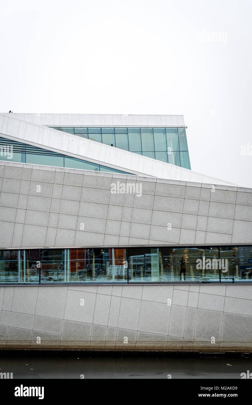 Opera House, Oslo, Norway - Stock Image