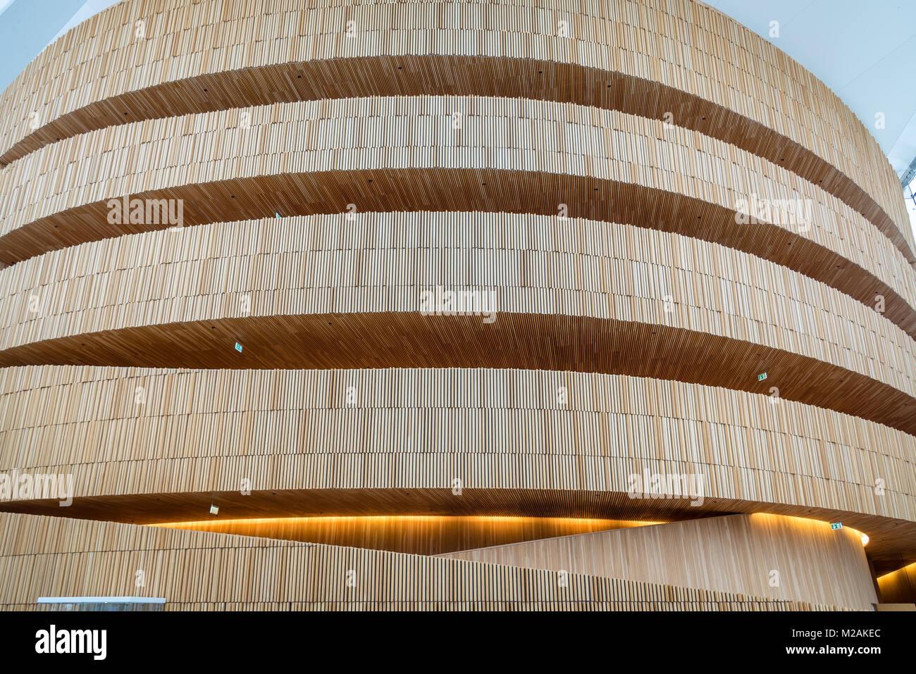 Inside Oslo Opera HOuse, Oslo, Norway - Stock Image