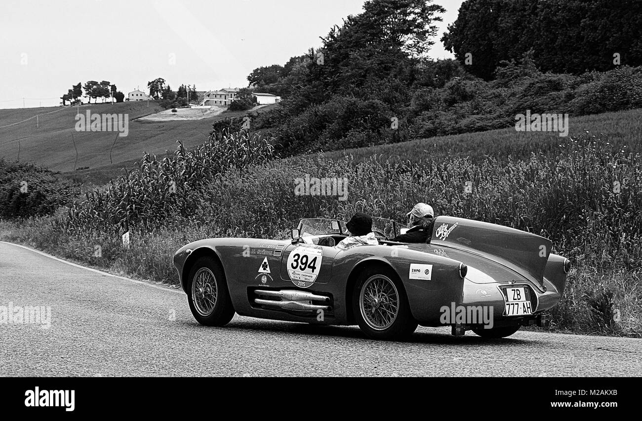 ALFA ROMEO 750 Competizione 1955 old racing car in rally Mille ...