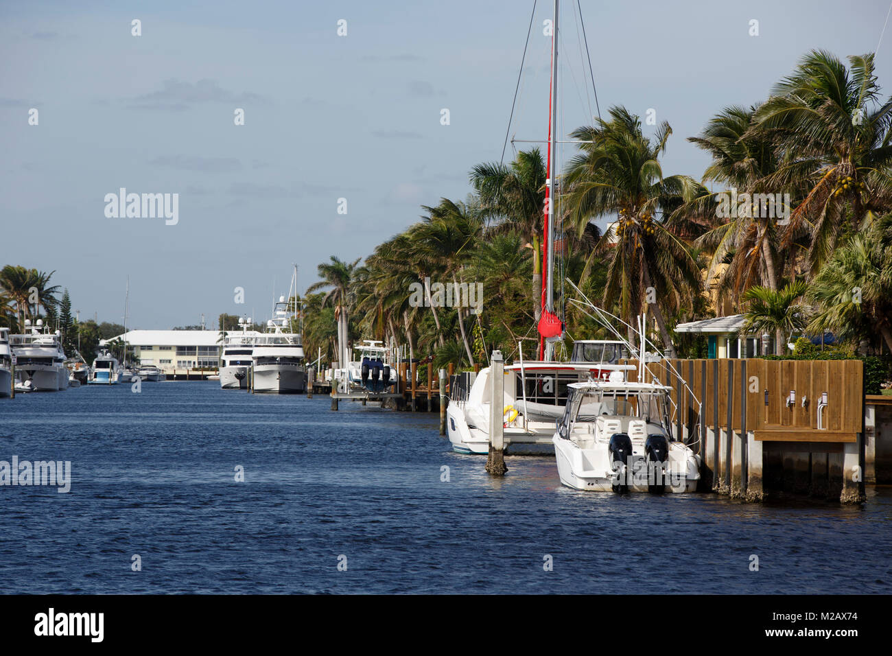 Canal, Hillsboro Beach, Florida - Stock Image