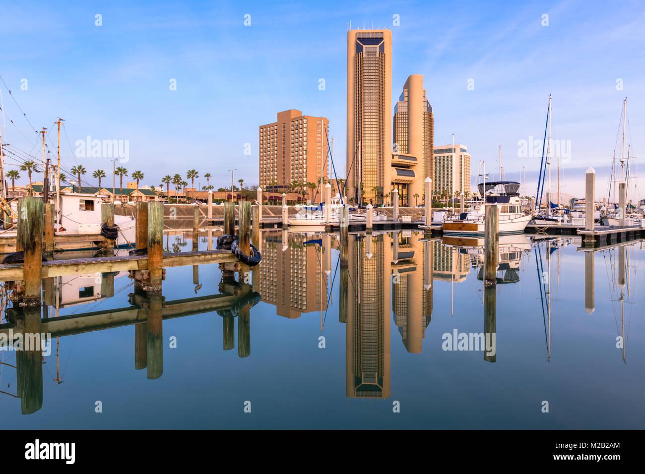 Corpus Christi, Texas, USA skyline on the bay. Stock Photo