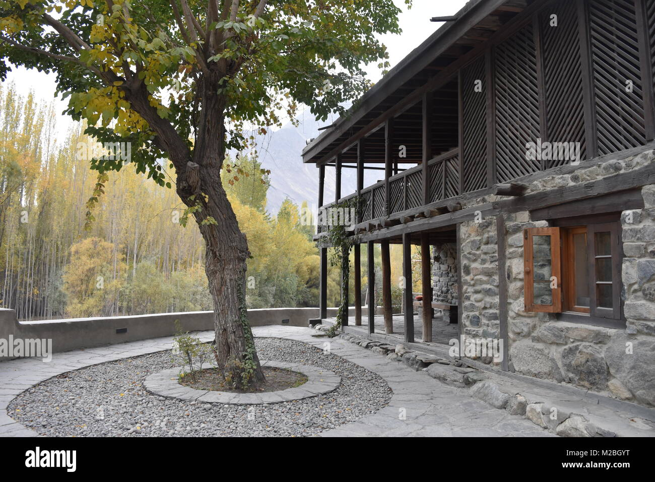 Shigar Fort - Stock Image
