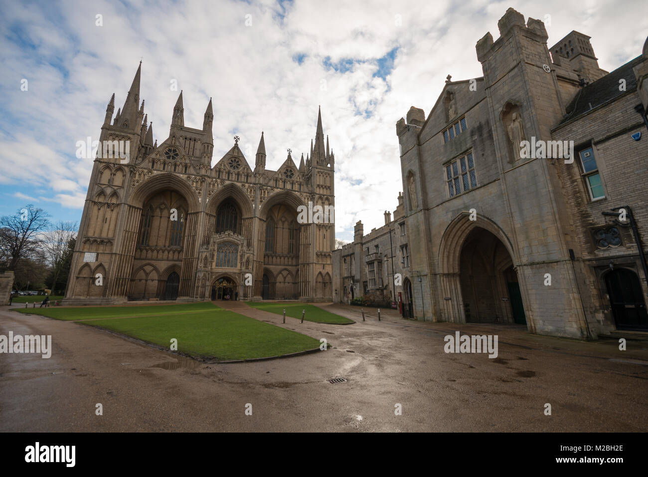 Peterborough Cathedral, Peterborough, Cambridgeshire. UK - Stock Image
