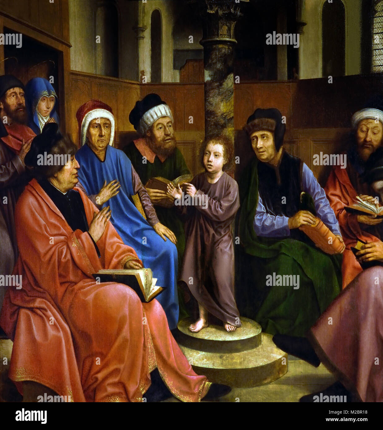 Jesus among the Doctors ,1509, by, METSYS Quentin - Quentin Matsys ,1466-1530 ,15/16th Century, Belgian, Belgium, - Stock Image