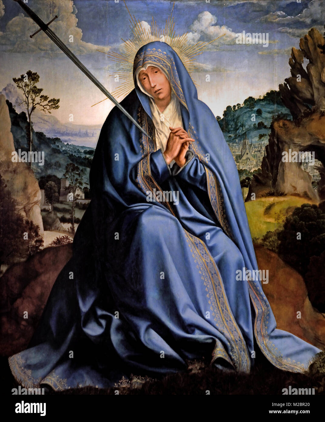 Virgin of Sorrow 1515  by, Quentin Matsys, 1466-1530 ,15/16th Century, Belgian, Belgium, Flemish, - Stock Image