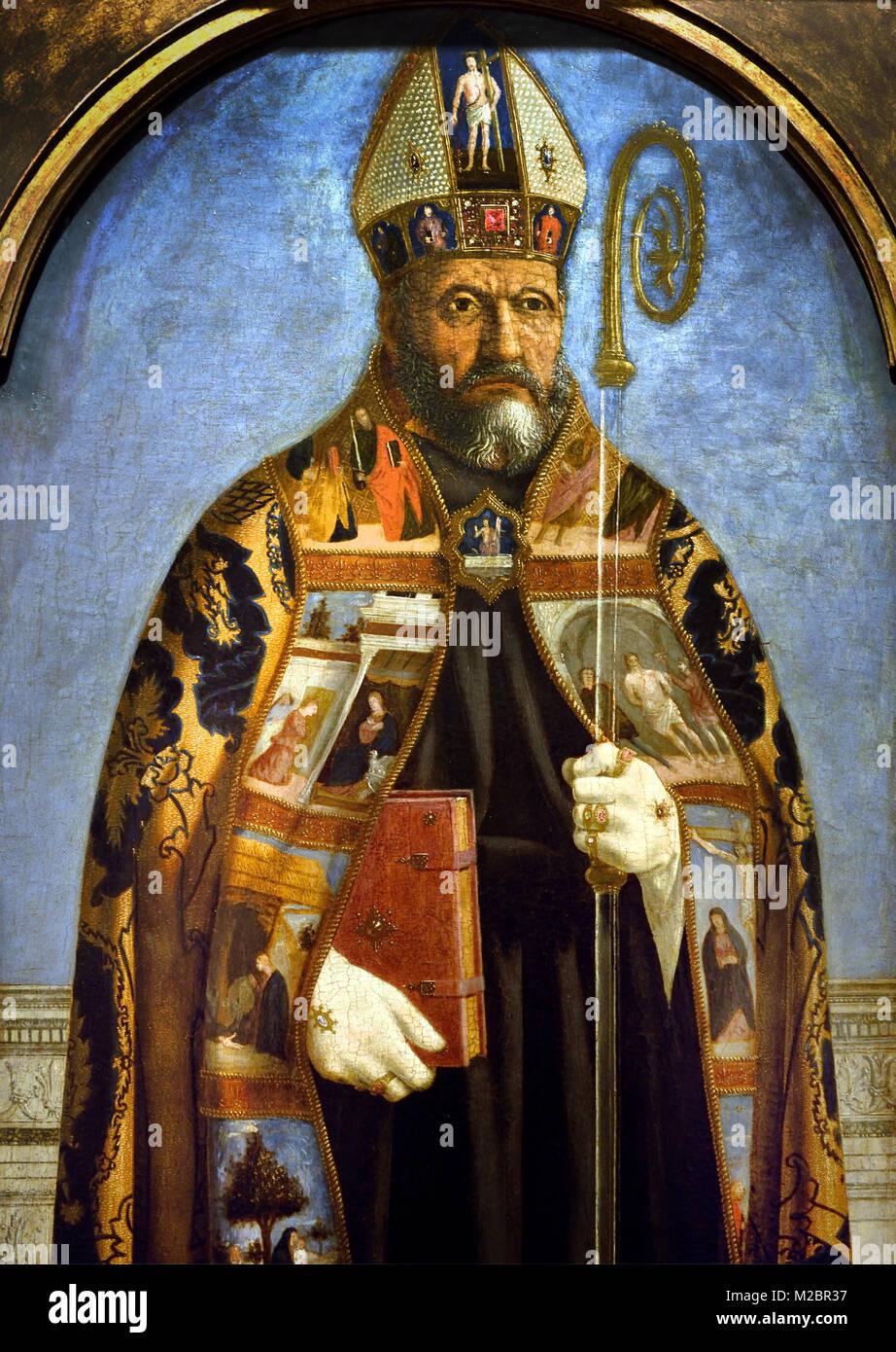 Saint Augustine 1460 Piero della Francesca 1415/20 - 1492 Italy Italian - Stock Image