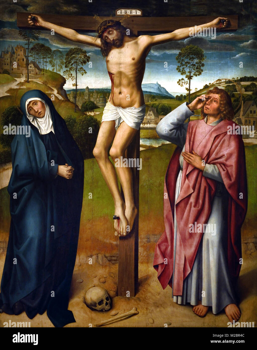 Calvary 1500 unkown master 15th-century, the Netherlands or Koln Germany - Stock Image