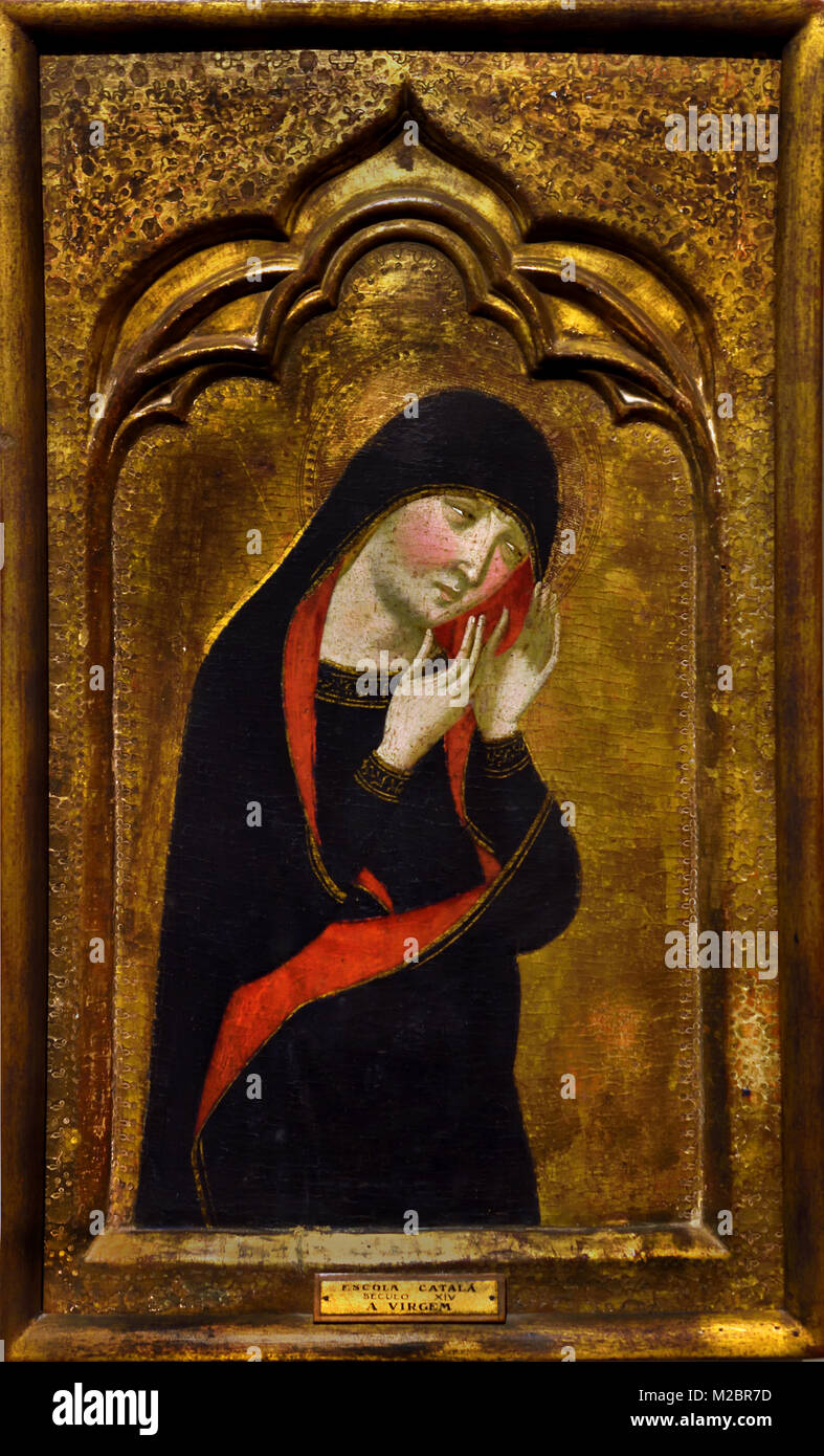 Père Serra - The Virgin 14th-century Portugal, Portuguese, - Stock Image