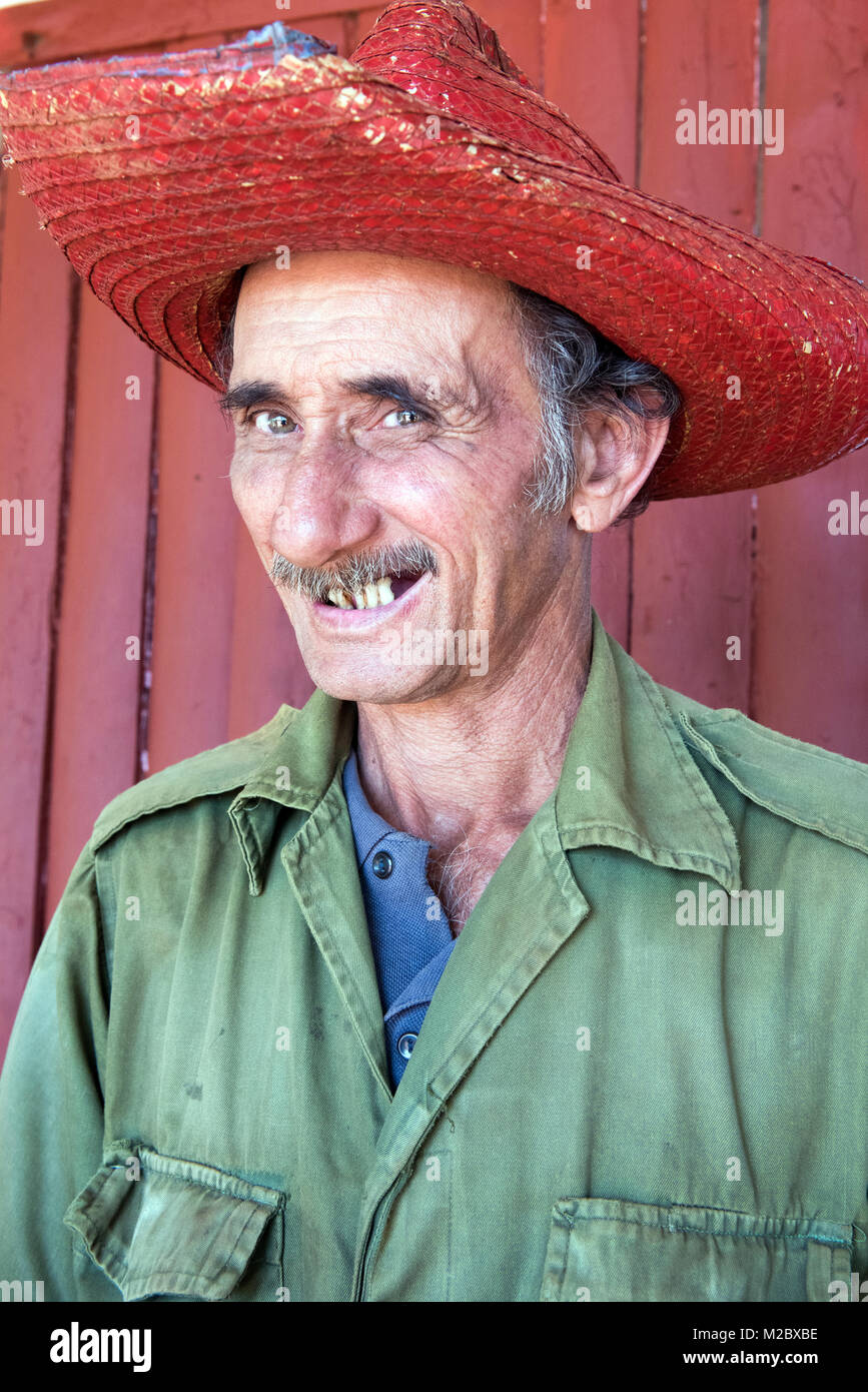 Cuban farmer, Vinales - Stock Image