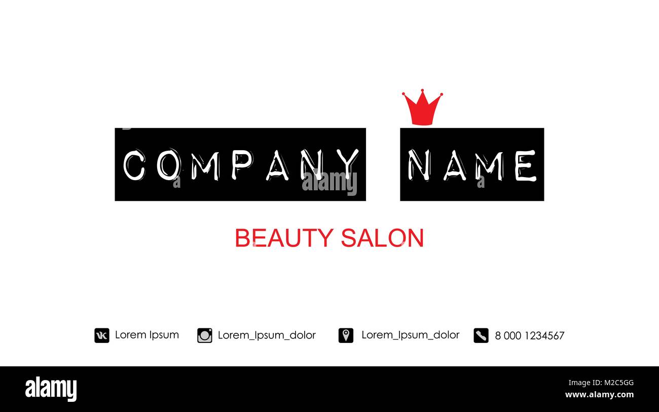 Beauty salon business card template vector illustration stock beauty salon business card template vector illustration flashek Image collections