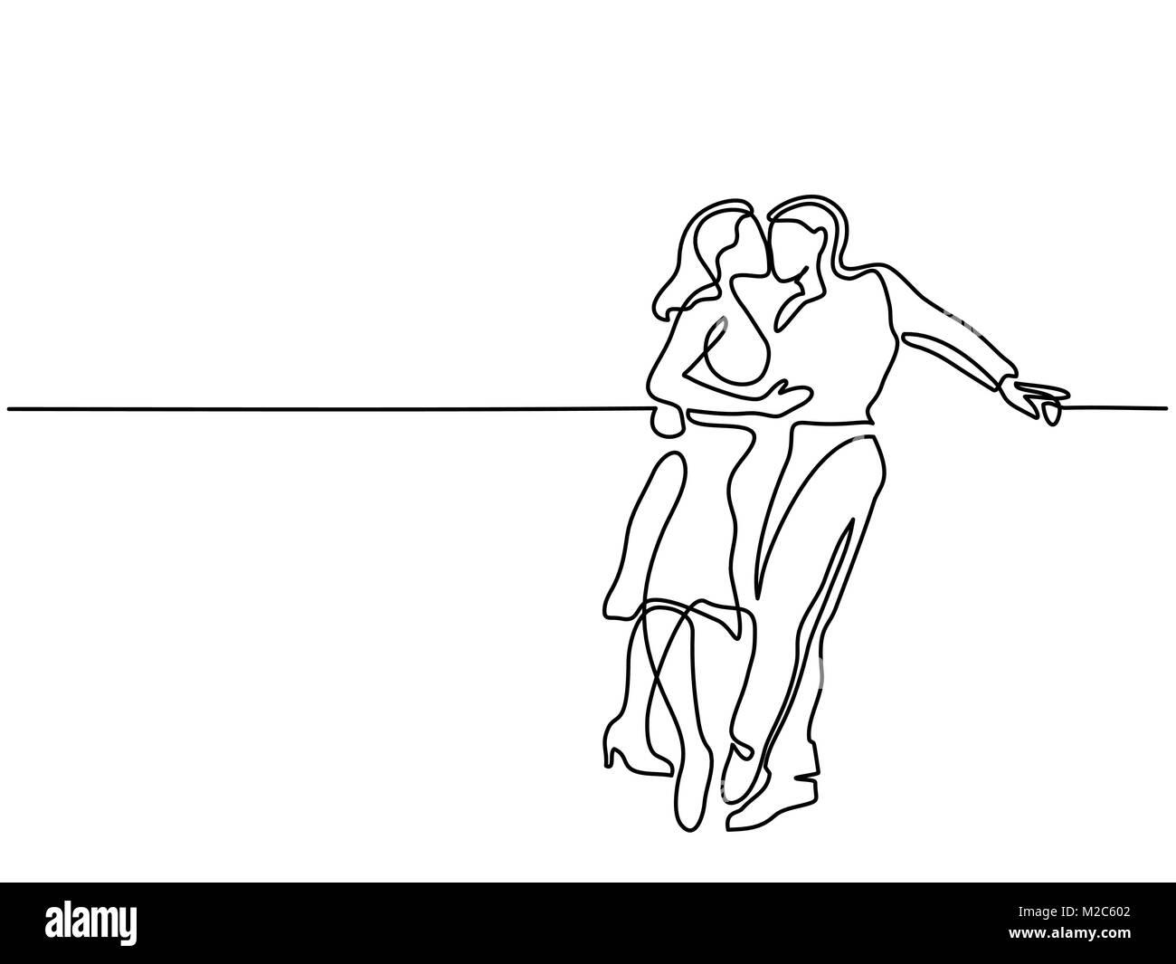 Happy couple kissing - Stock Image