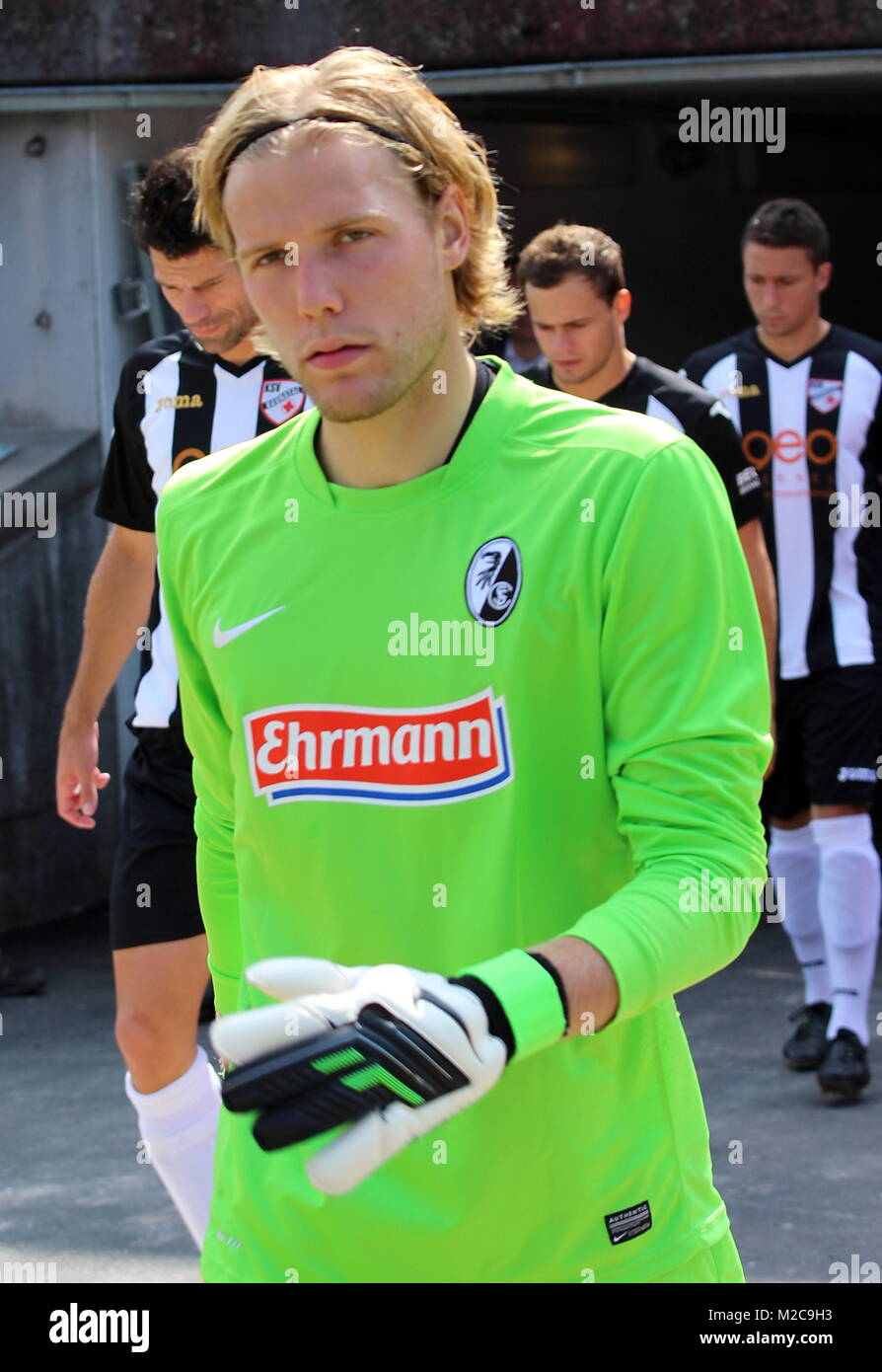 Torhüter Dominic Bergdorf, SC Freiburg, Fußball-Regionalliga Südwest: SC Freiburg II - KSV Baunatal - Stock Image