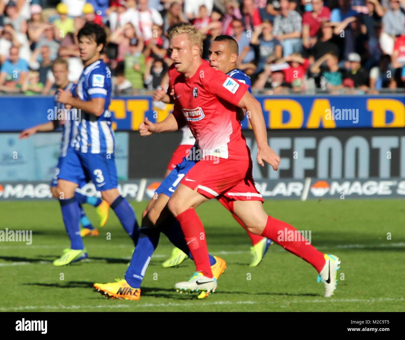 Mike Hanke, Stürmer des SC Freiburg - 1. Fussball-Bundesliga: 6. Sptgt. SC Freiburg vs. Hertha BSC Berlin - Stock Image