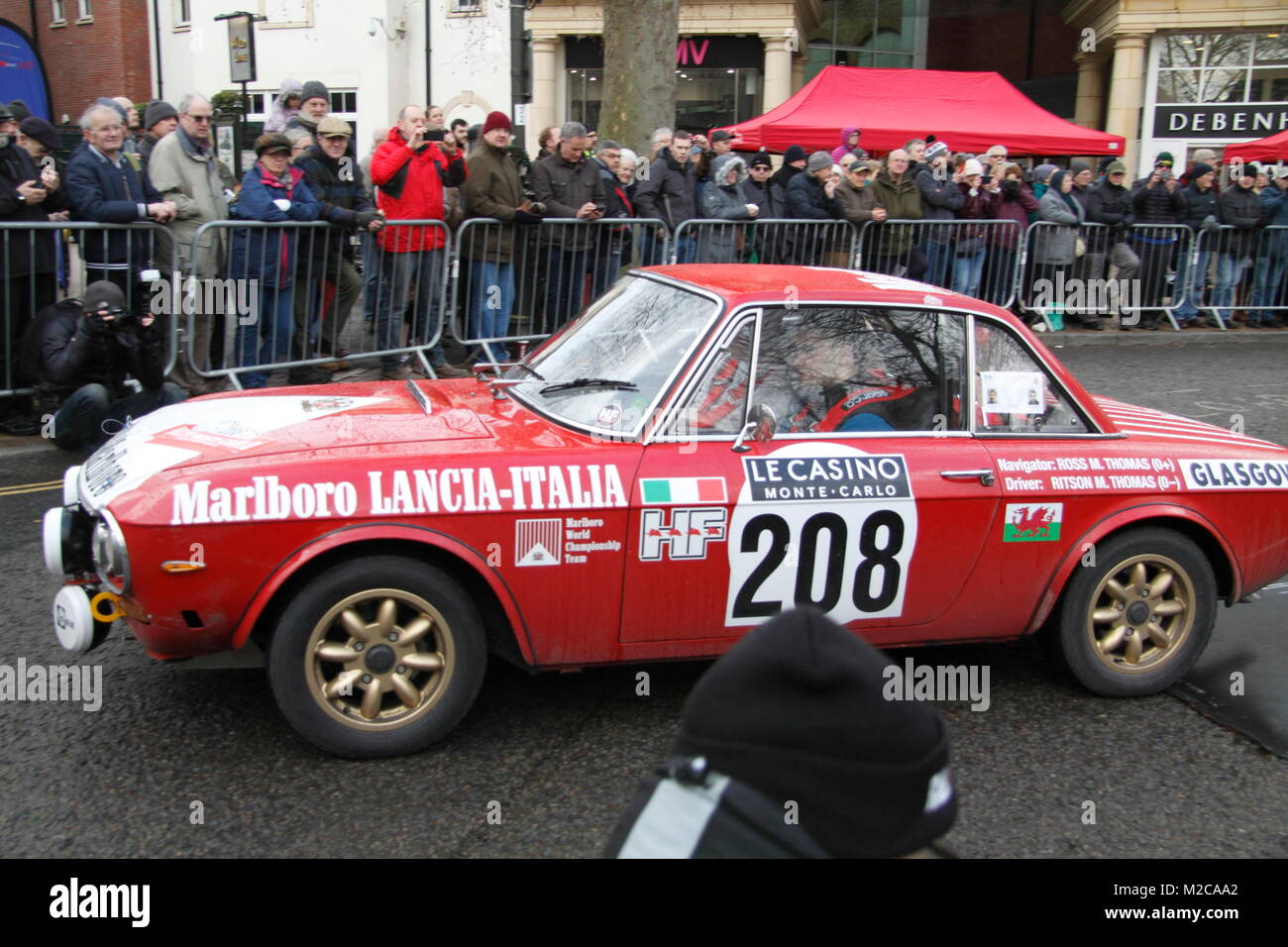 Monte Carlo Rally 2018 Banbury Stock Photo