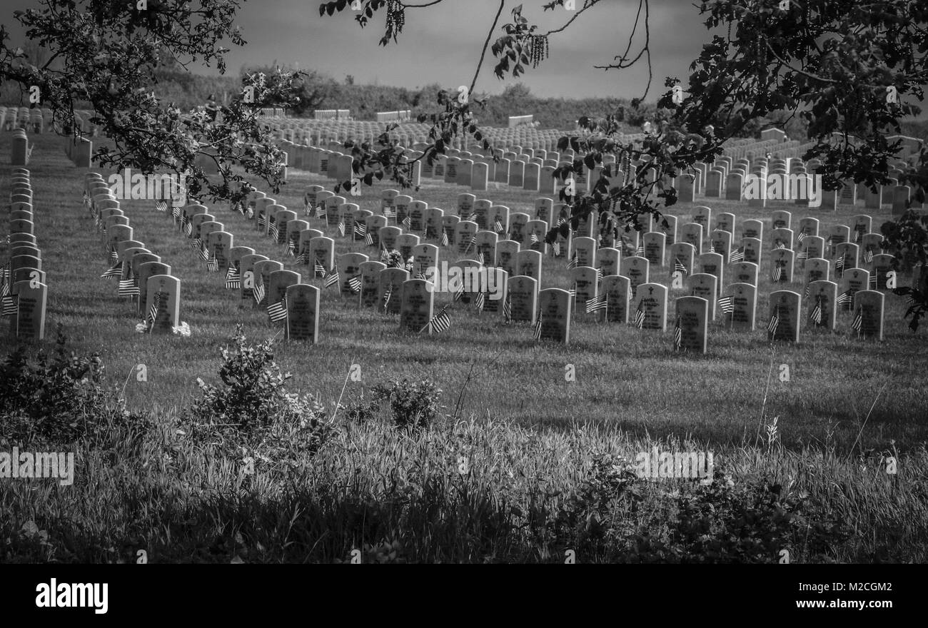 Abraham Lincoln National Veterans Cemetery ,Chicago Illinois - Stock Image