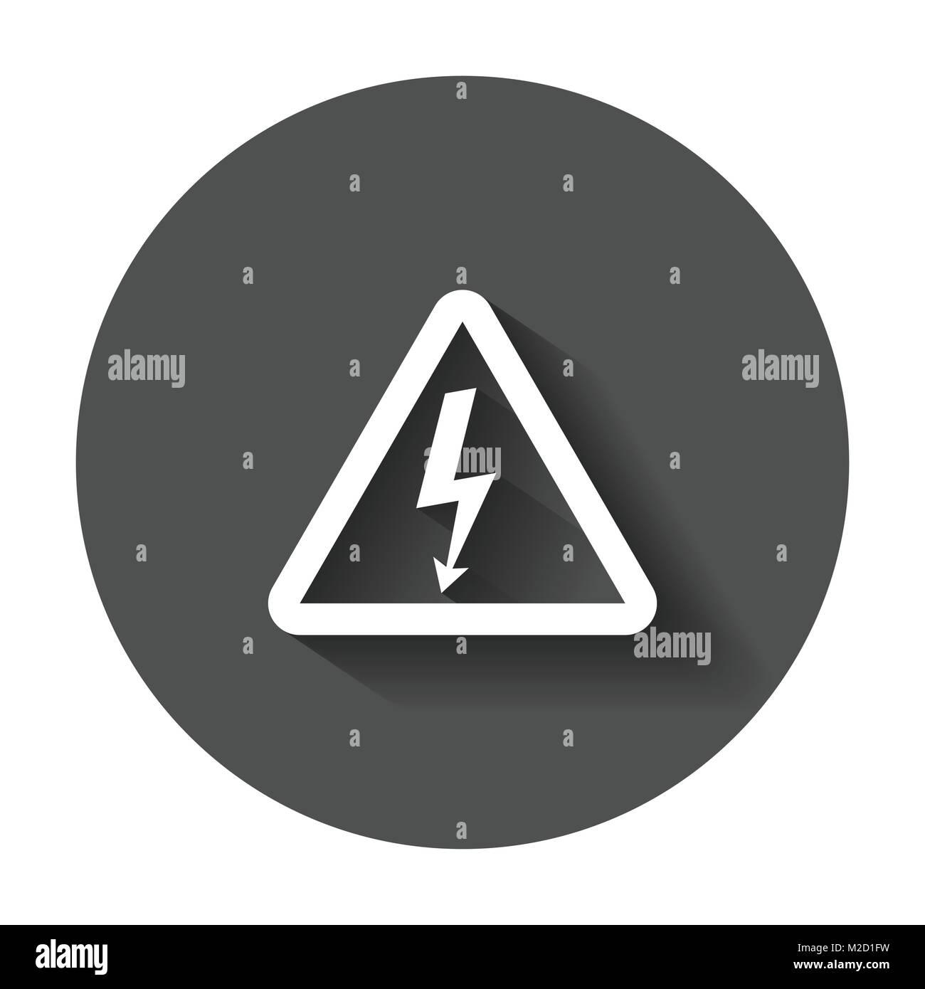 High voltage danger sign icon. Danger electricity vector ...