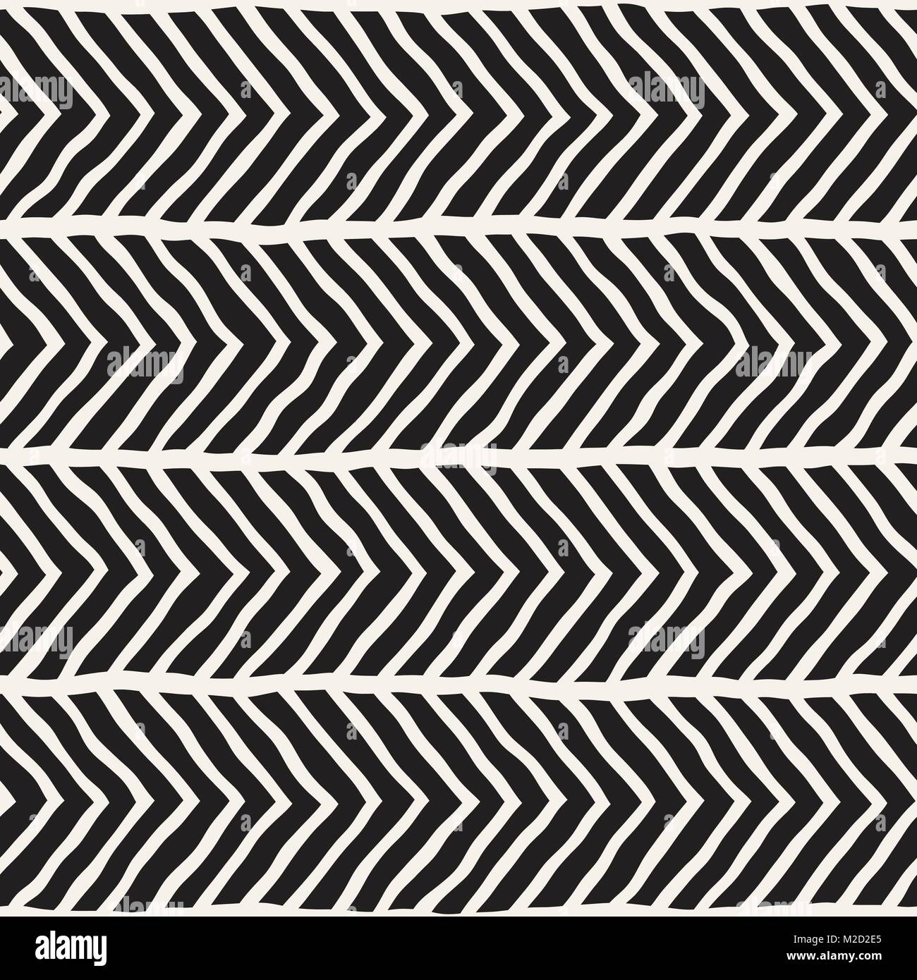 Hand drawn style seamless pattern. Abstract geometric tiling Stock ...