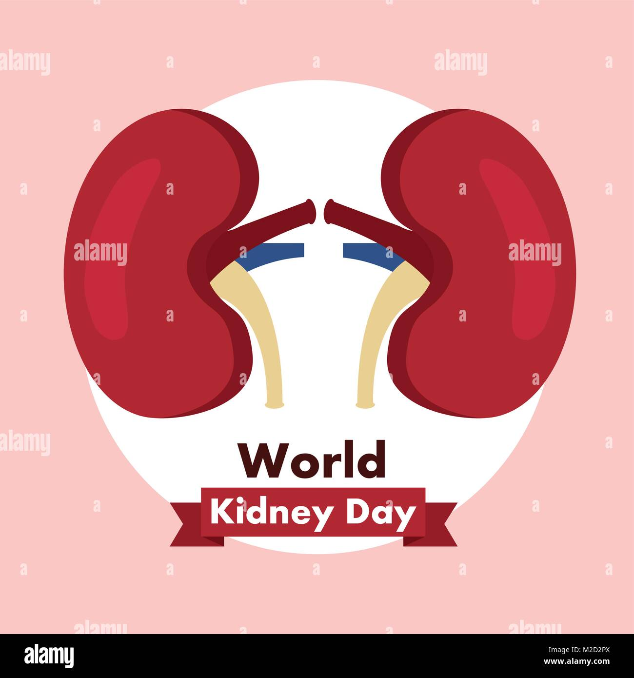 world kidney day healthcare medical campaign poster Stock