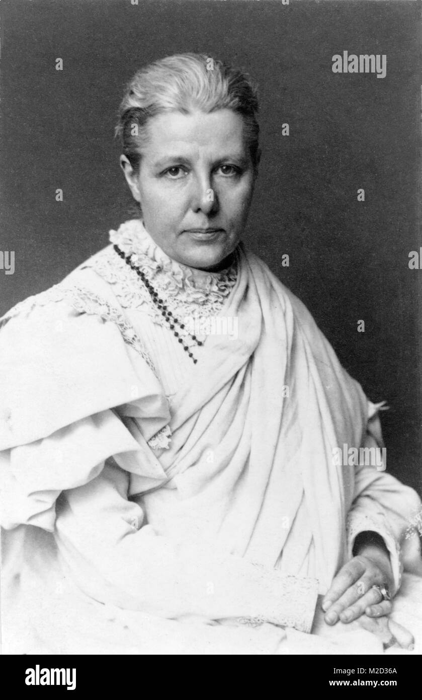 Annie Besant, (1847 – 1933) was a British socialist, women's rights activist, writer and supporter of Irish - Stock Image