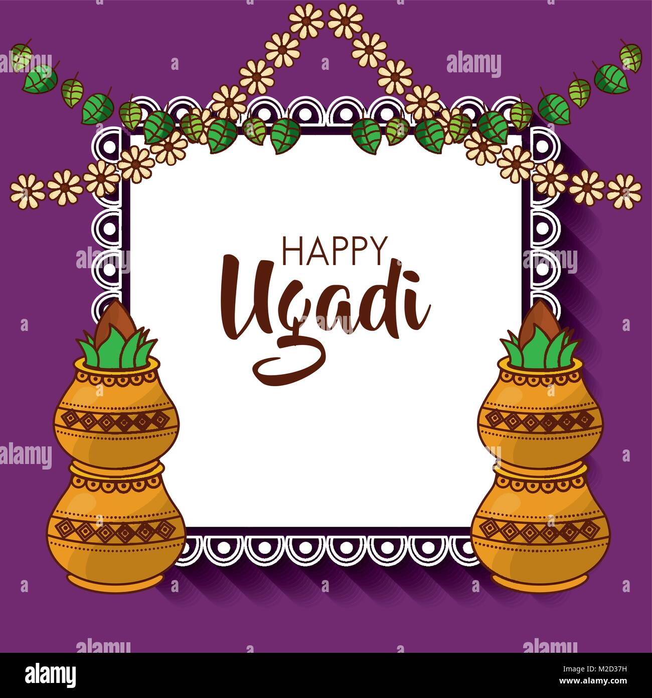 hindu new year high resolution stock photography and images alamy https www alamy com stock photo happy ugadi hindu new year greeting card pot with coconut flowers 173620933 html
