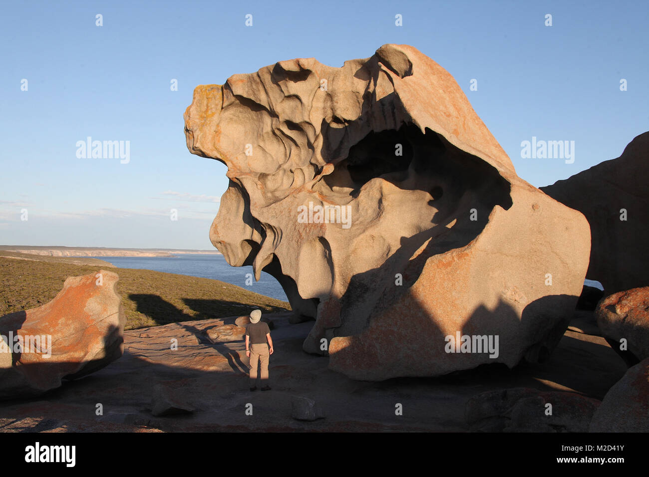 Remarkable Rocks at Flinders Chase National Park on Kangaroo Island - Stock Image