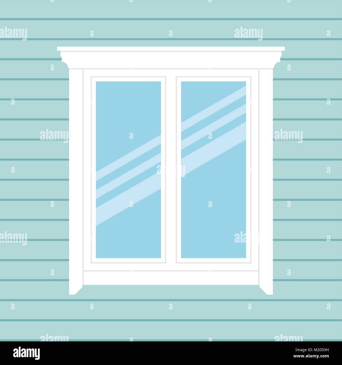 Background with window. - Stock Vector